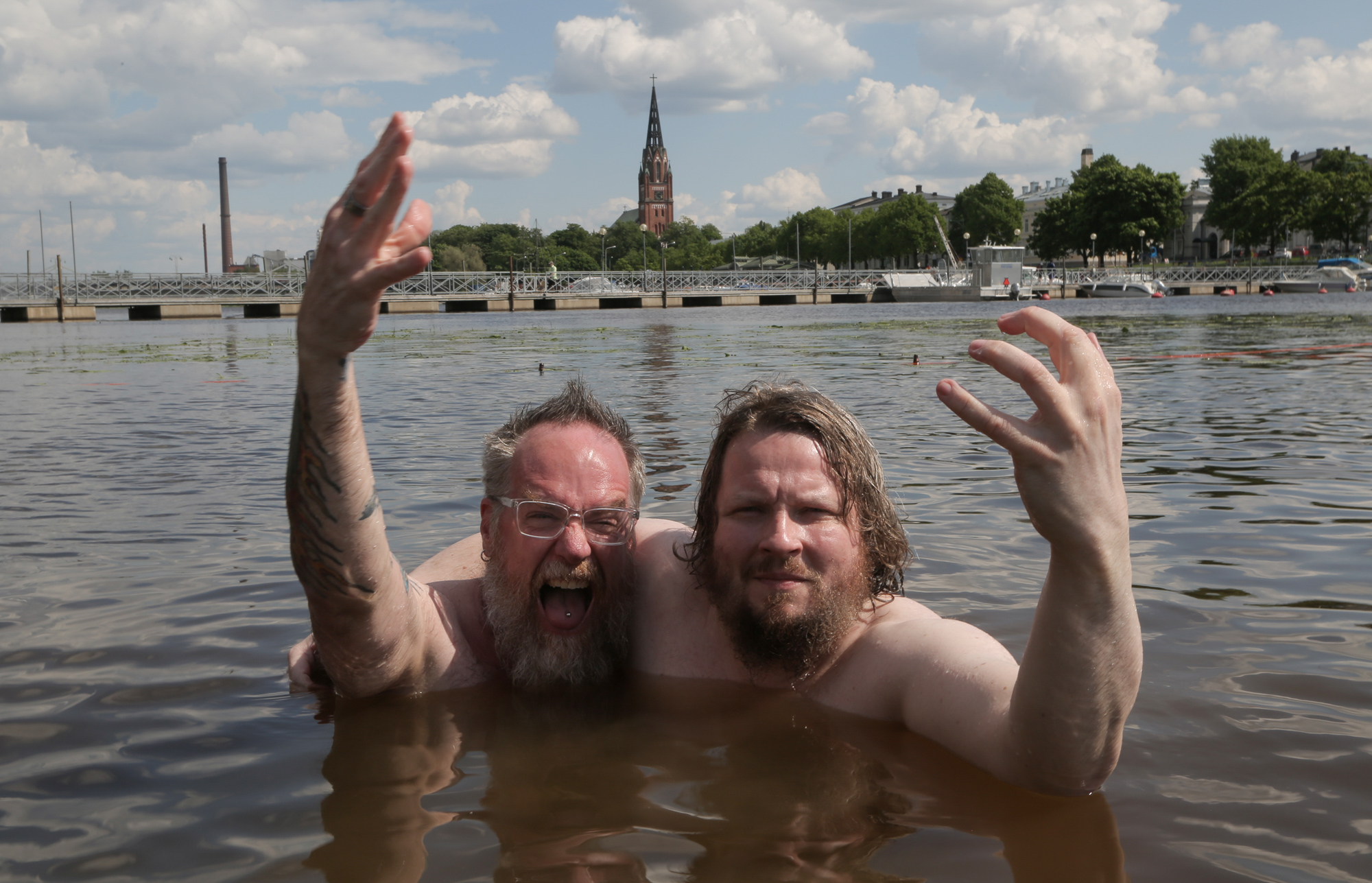 Aquarius' own Andee, with Jussi (from the band Circle) - doing a Slint-inspired interview in Pori, Finland