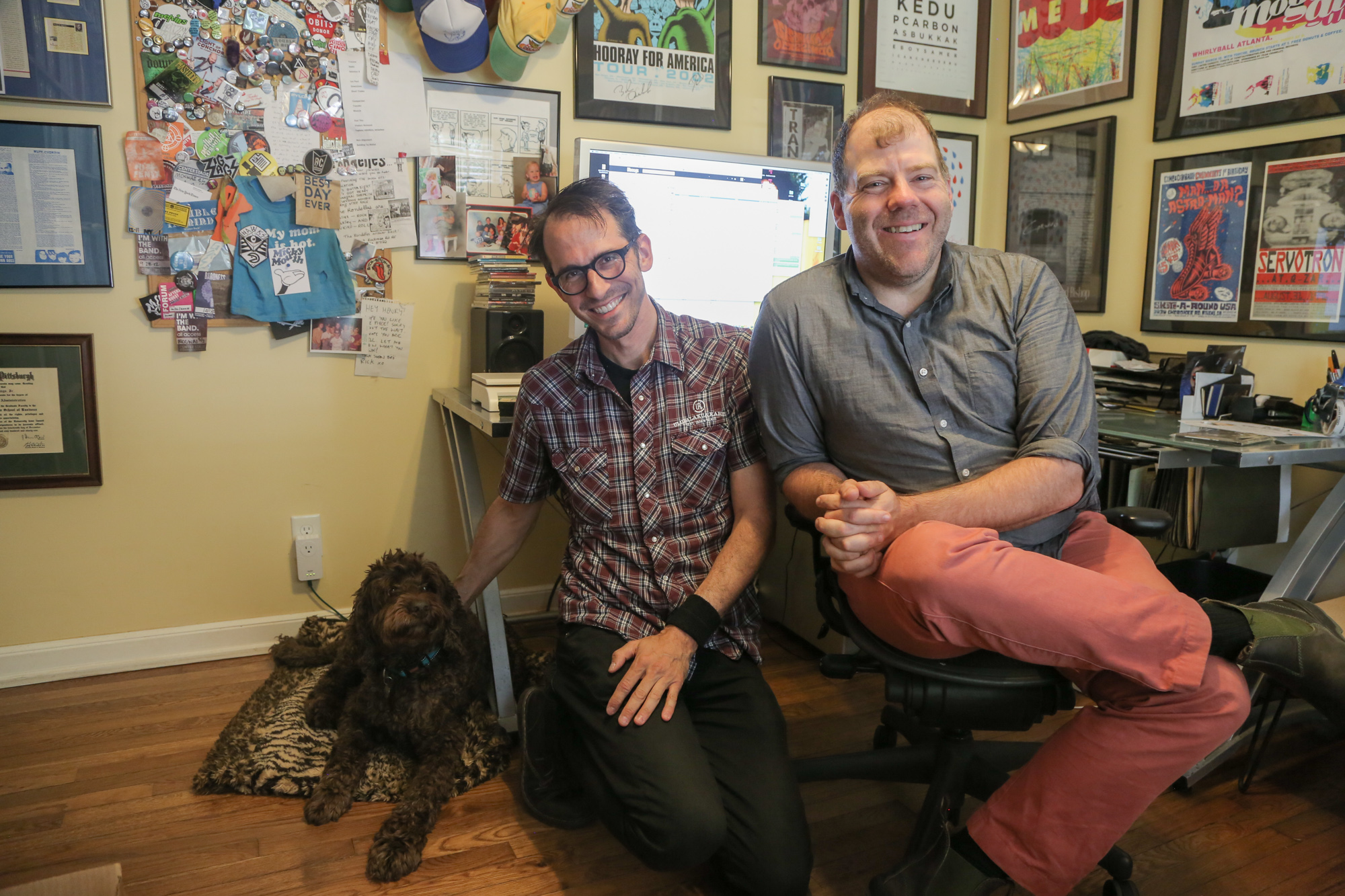 Chunklet Headquarters with Henry Owings and his smiling pup. Atlanta, GA.
