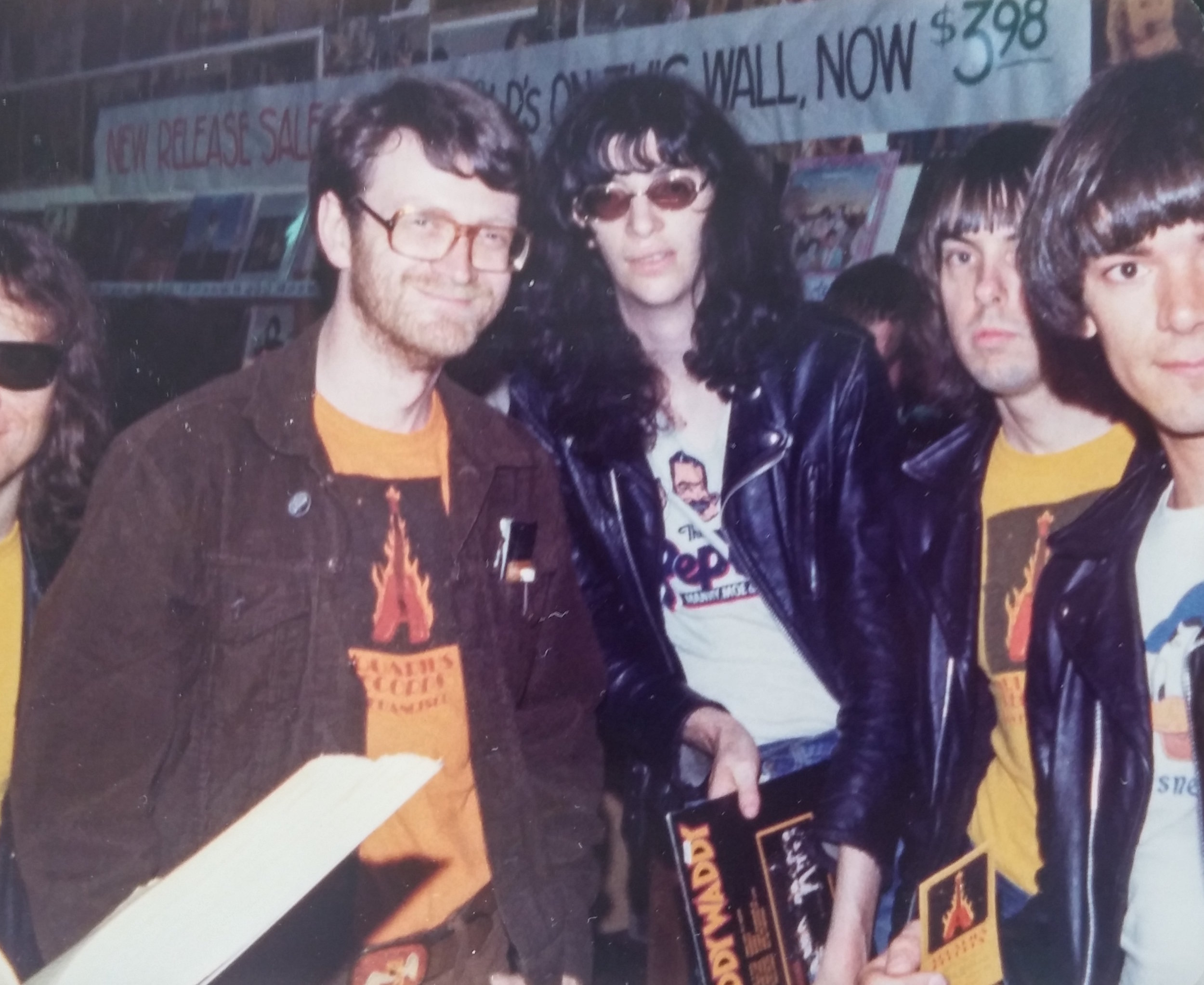 70's owner, Chris Knab, hosting a visit from The Ramones!