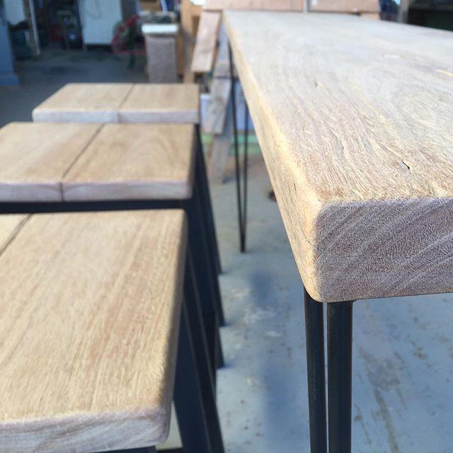 BUY ME ..... #woodencollective #reclaimedtimberfurniture #barsetting #goldcoast
