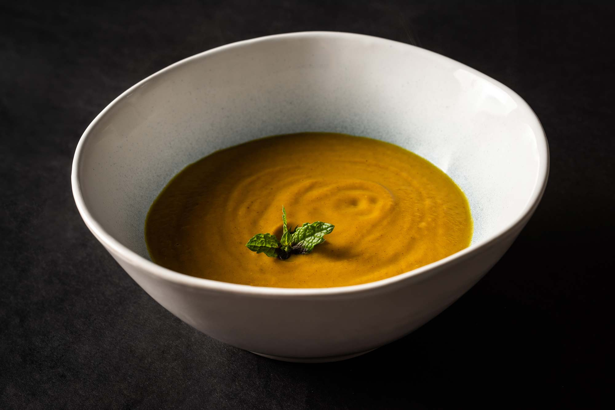 This pumpkin soup will kick your tastebuds into orbit.