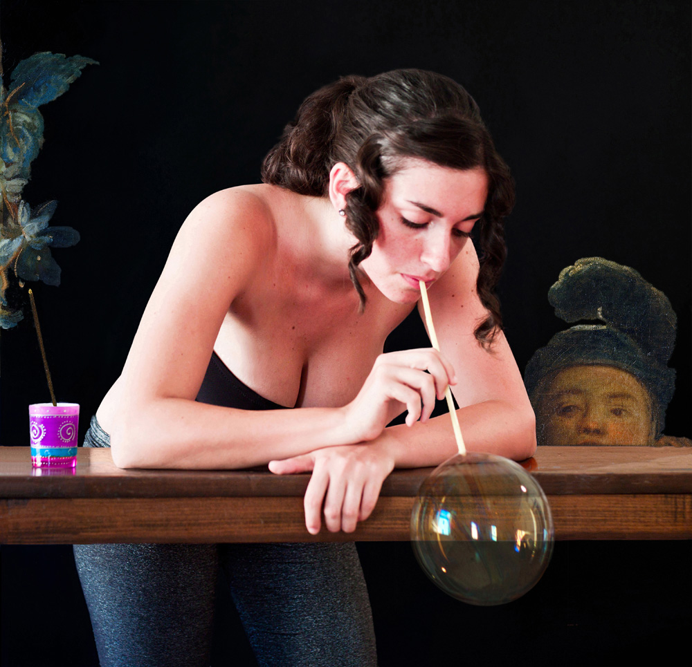 Liliana Blowing Bubbles, 2012.