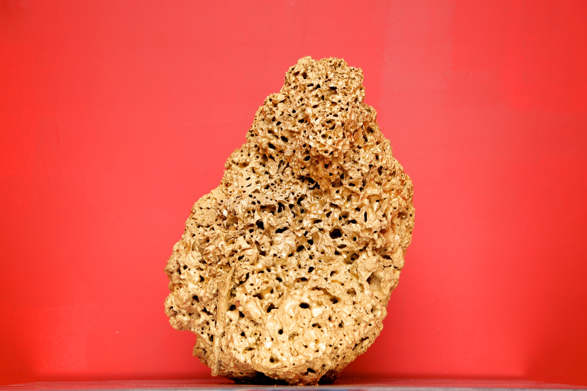 Truong Cong Tung   'Journey of a piece of soil', 2014   Termite nest, paint   38 x 40 x 60 cm
