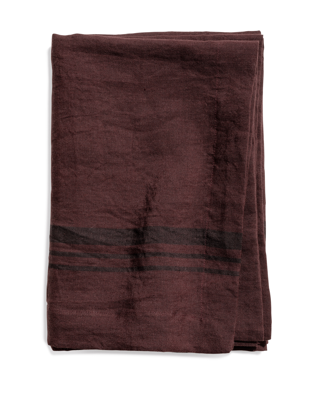 Limerick table cloth stripe hazy purple 160x160