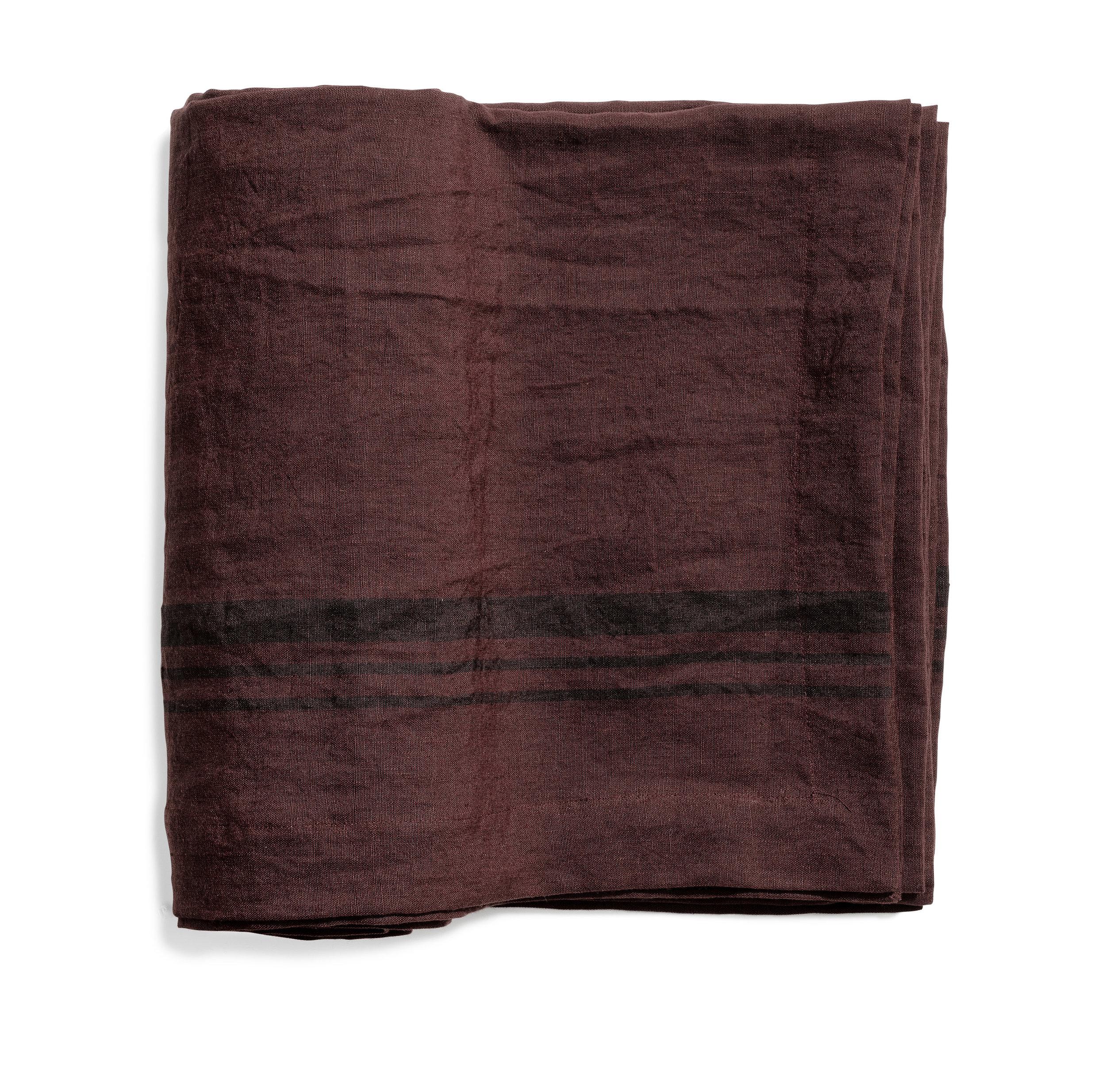 Lorry table cloth stripe hazy purple 170x270
