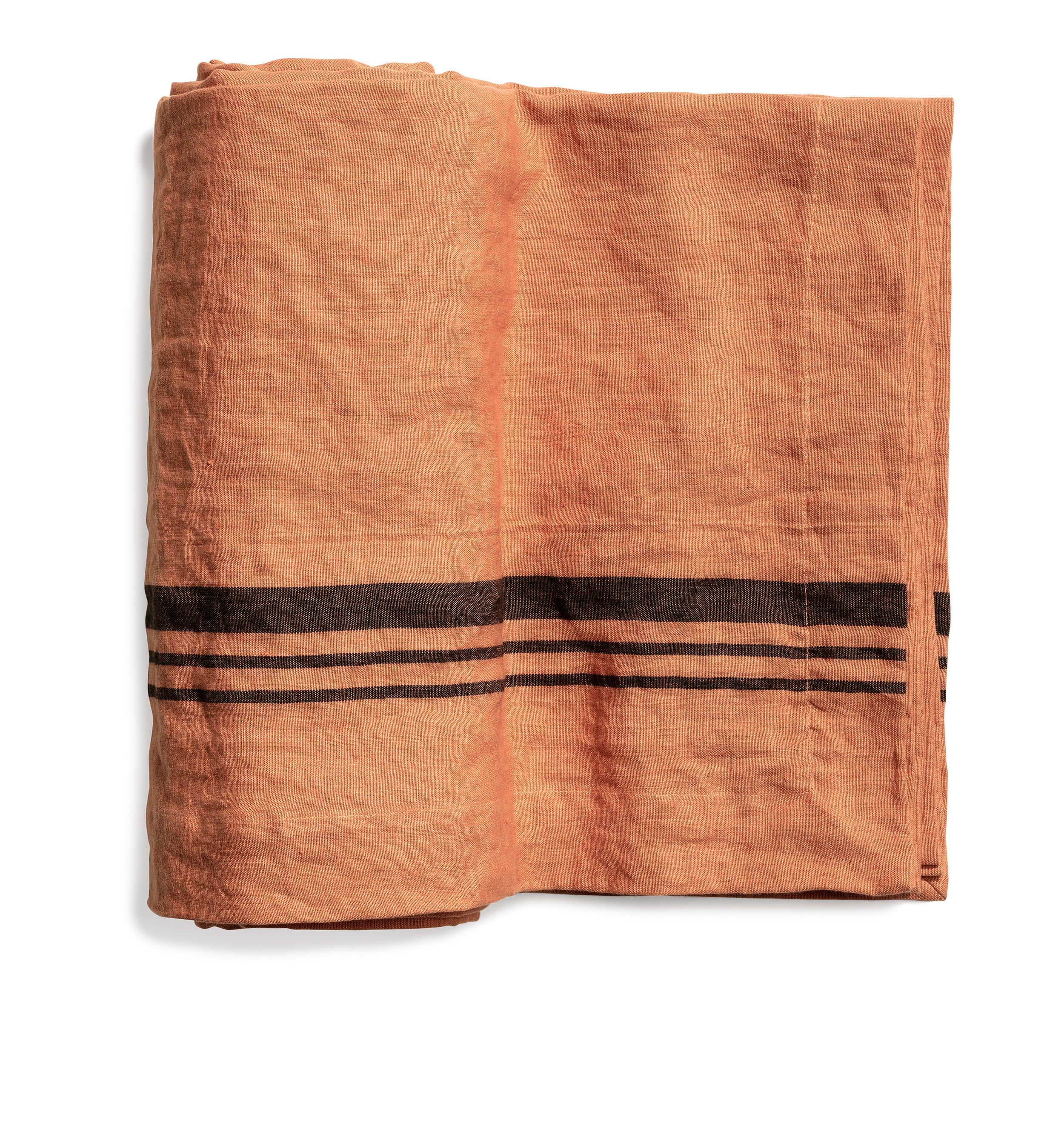 Lorry table cloth stripe terracotta 170x270