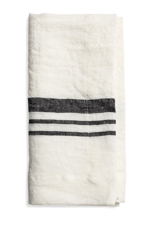 Littlewood napkin stripe offwhite 50x50