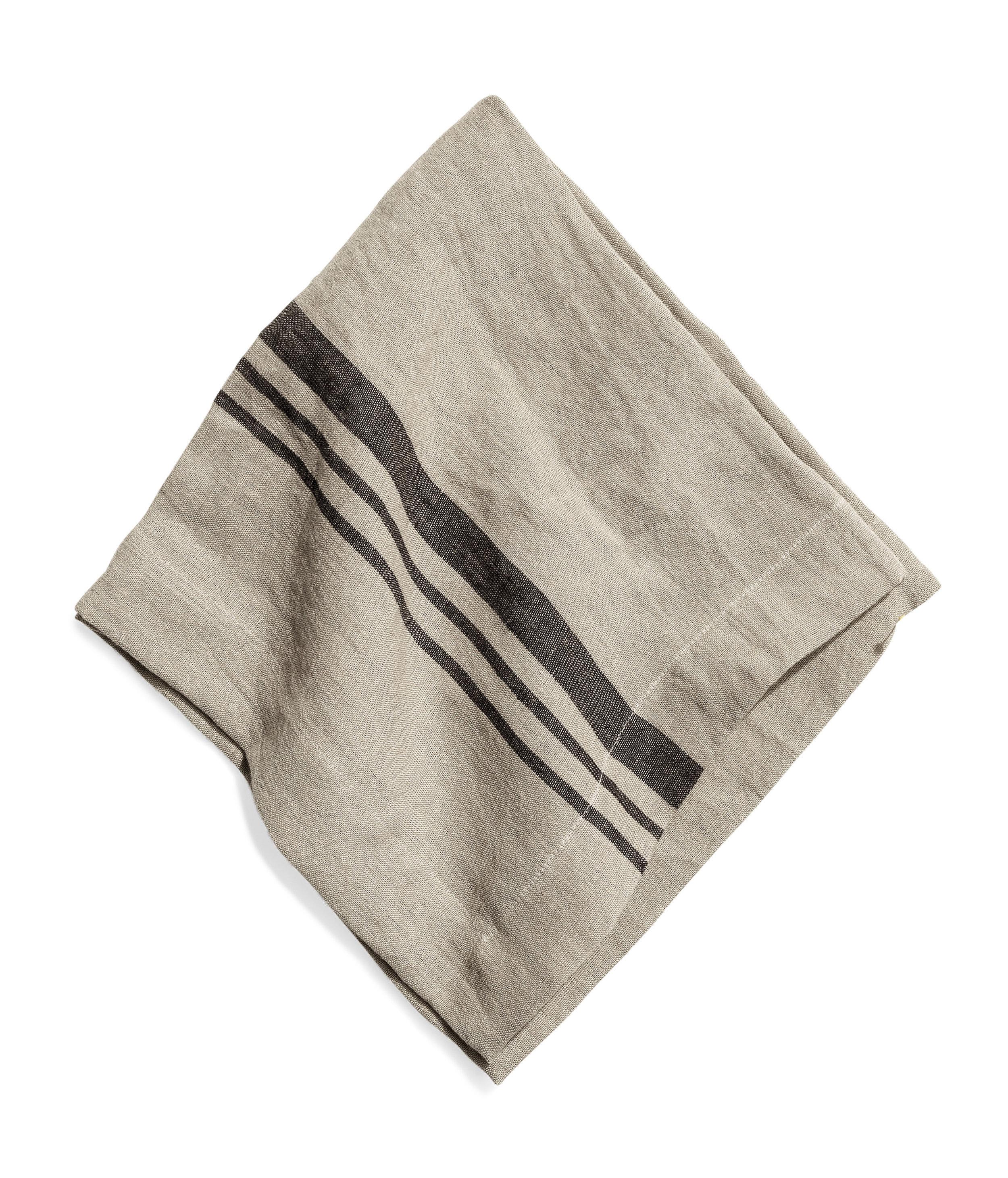 Littlewood napkin stripe sage 2 50x50