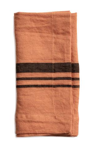 Littlewood napkin stripe dry terracotta 50x50
