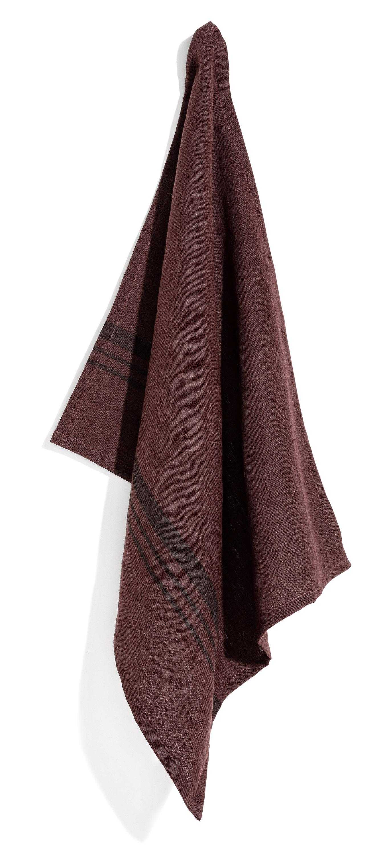 Leary towel stripe hazy purple 50x70