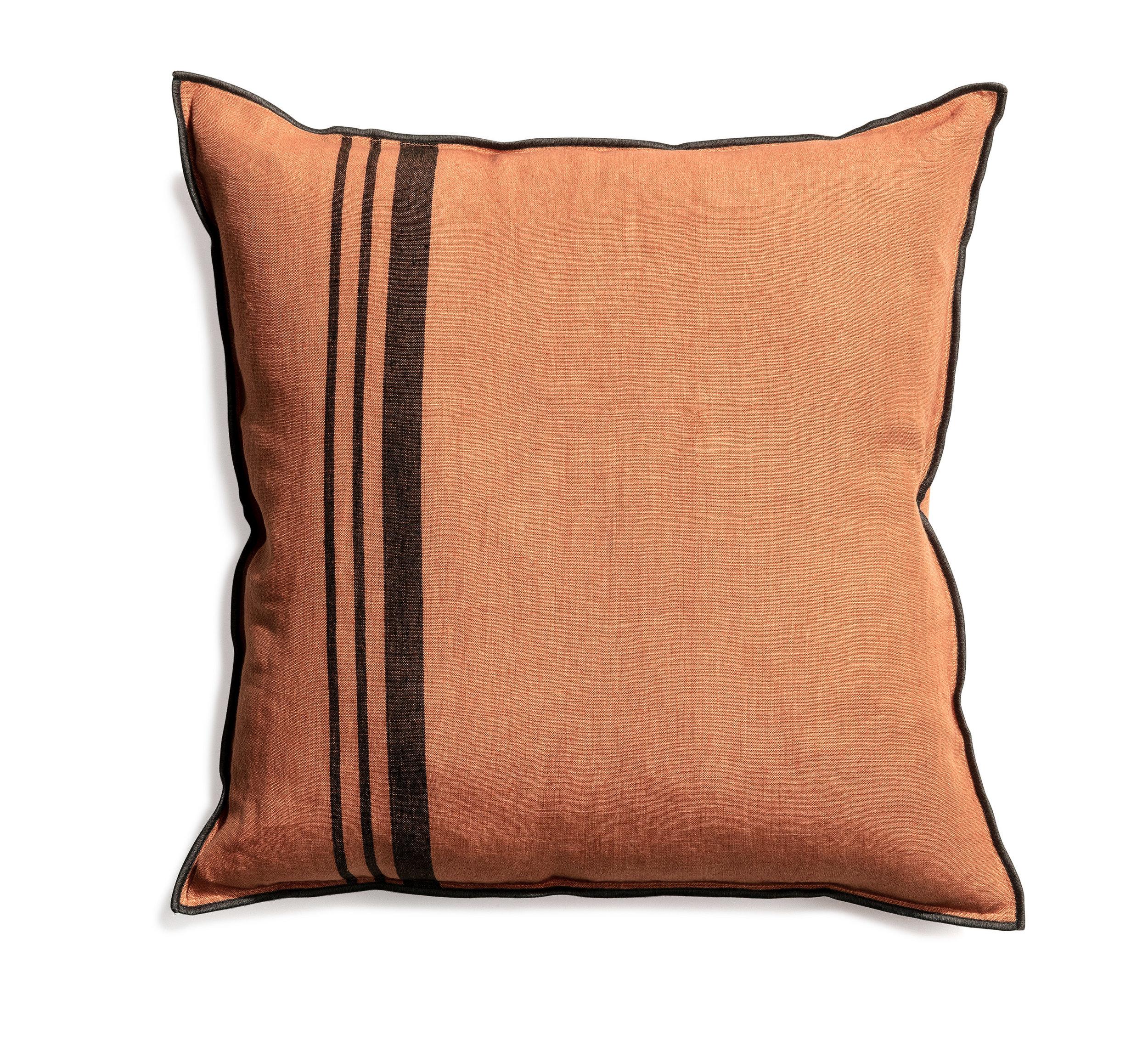 Loft cushion stripe dry_terracotta 50x50