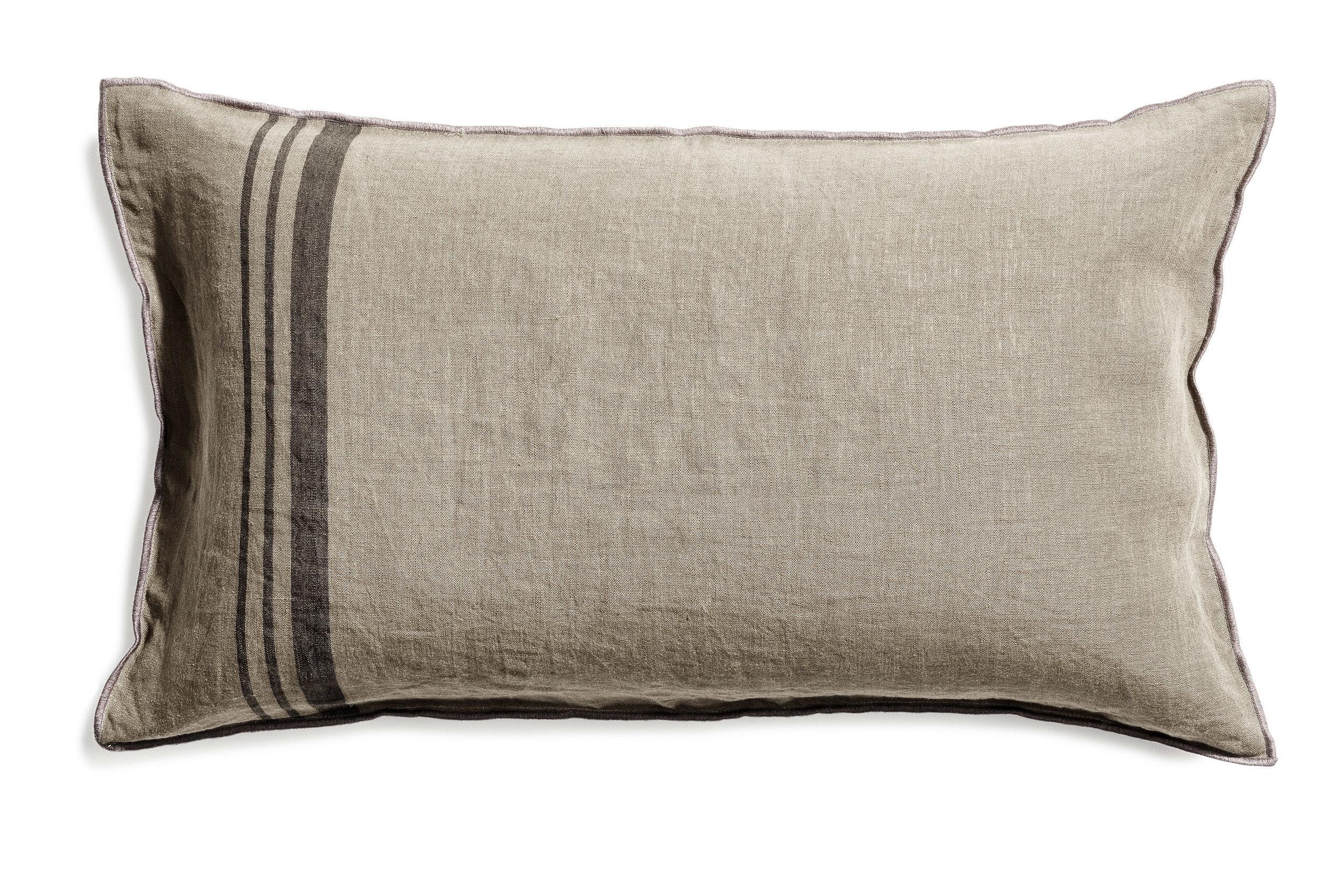Loke cushion stripe sage 40x70