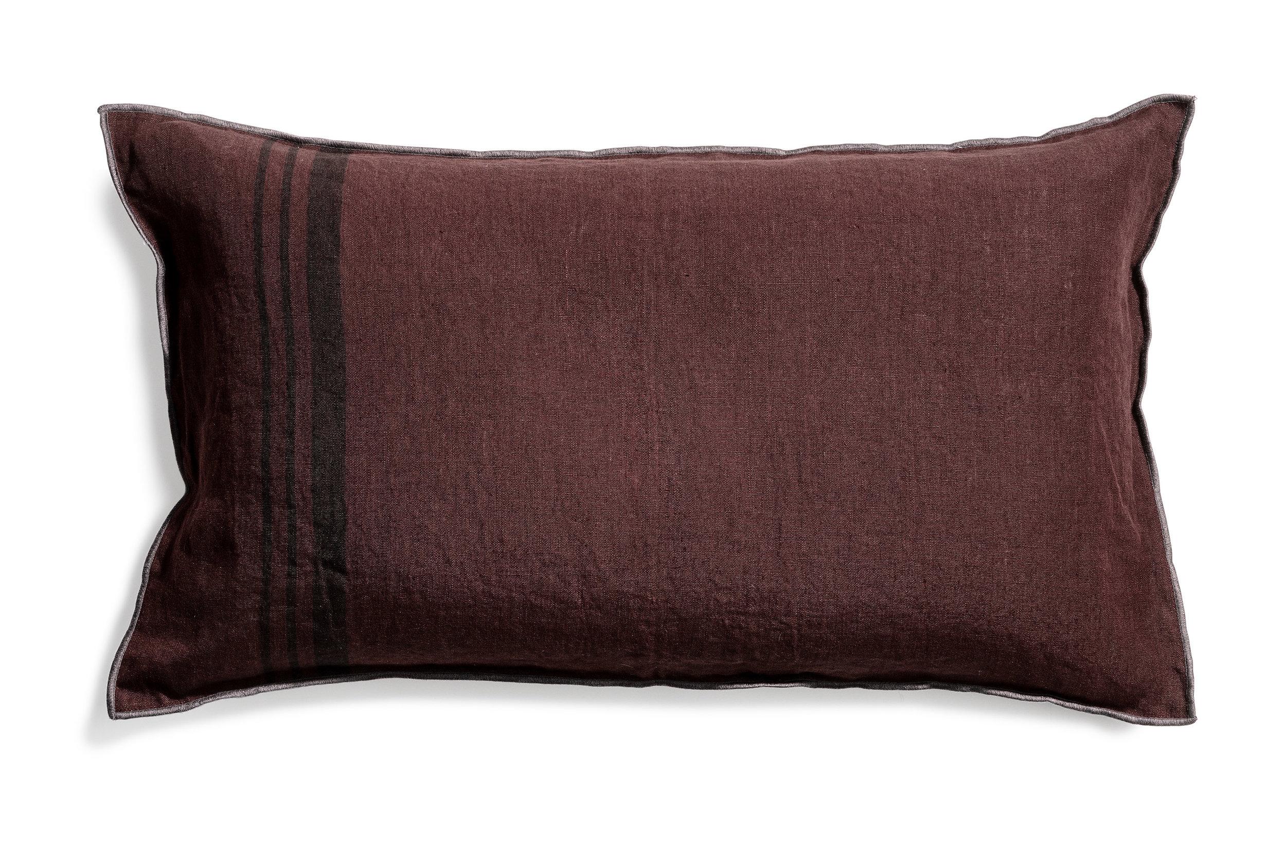 Loke cushion stripe hazy purple 40x70