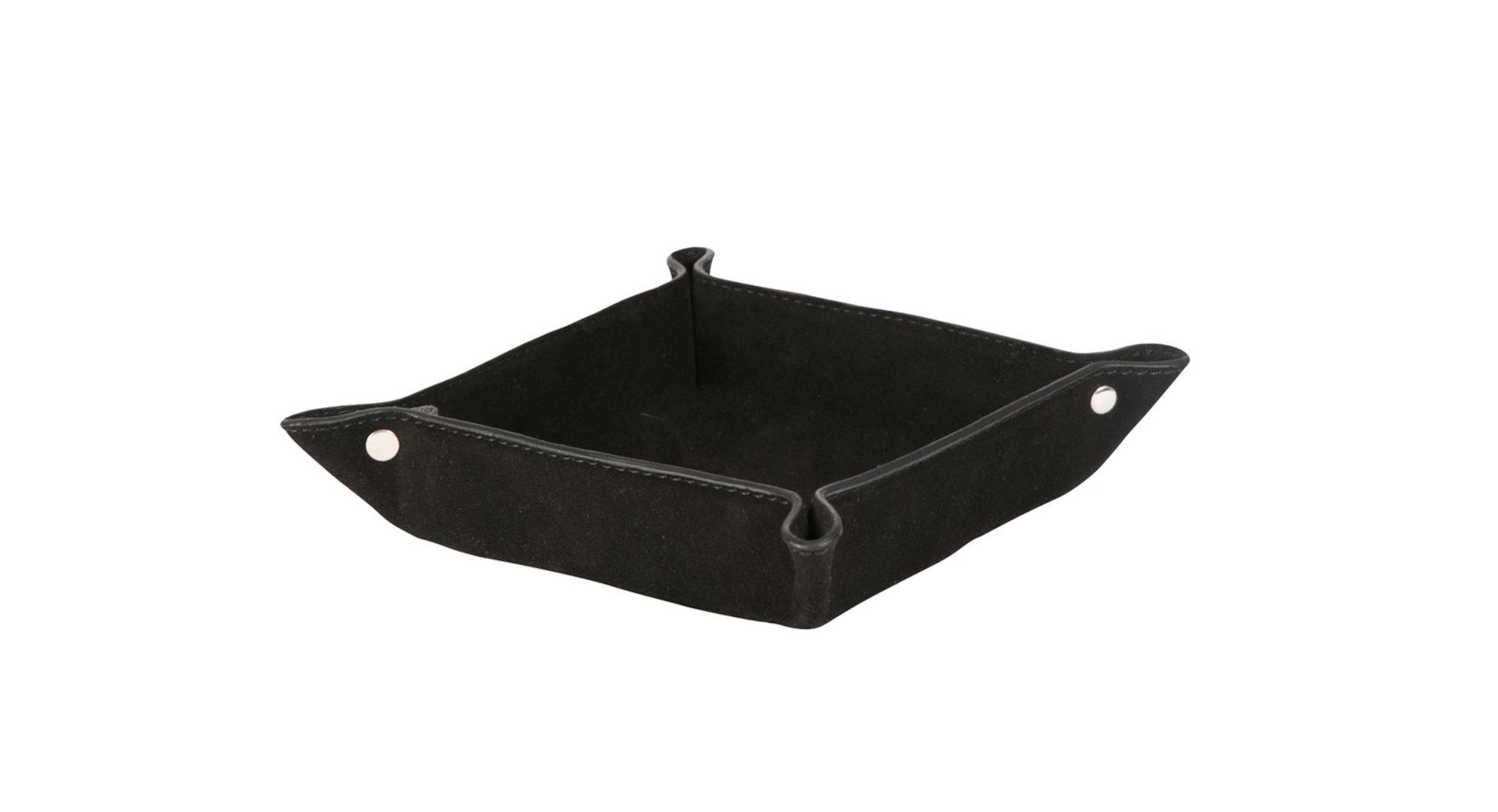 Skeen black suede 14x14x5cm