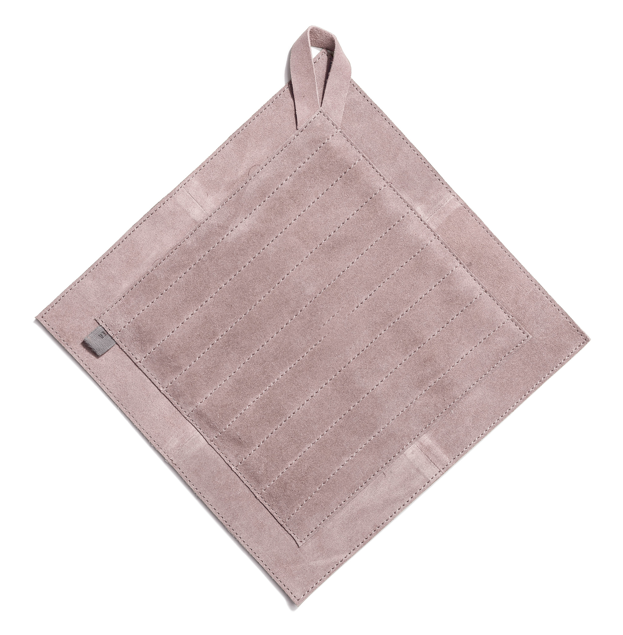 Trinity pot holder pale heather suede