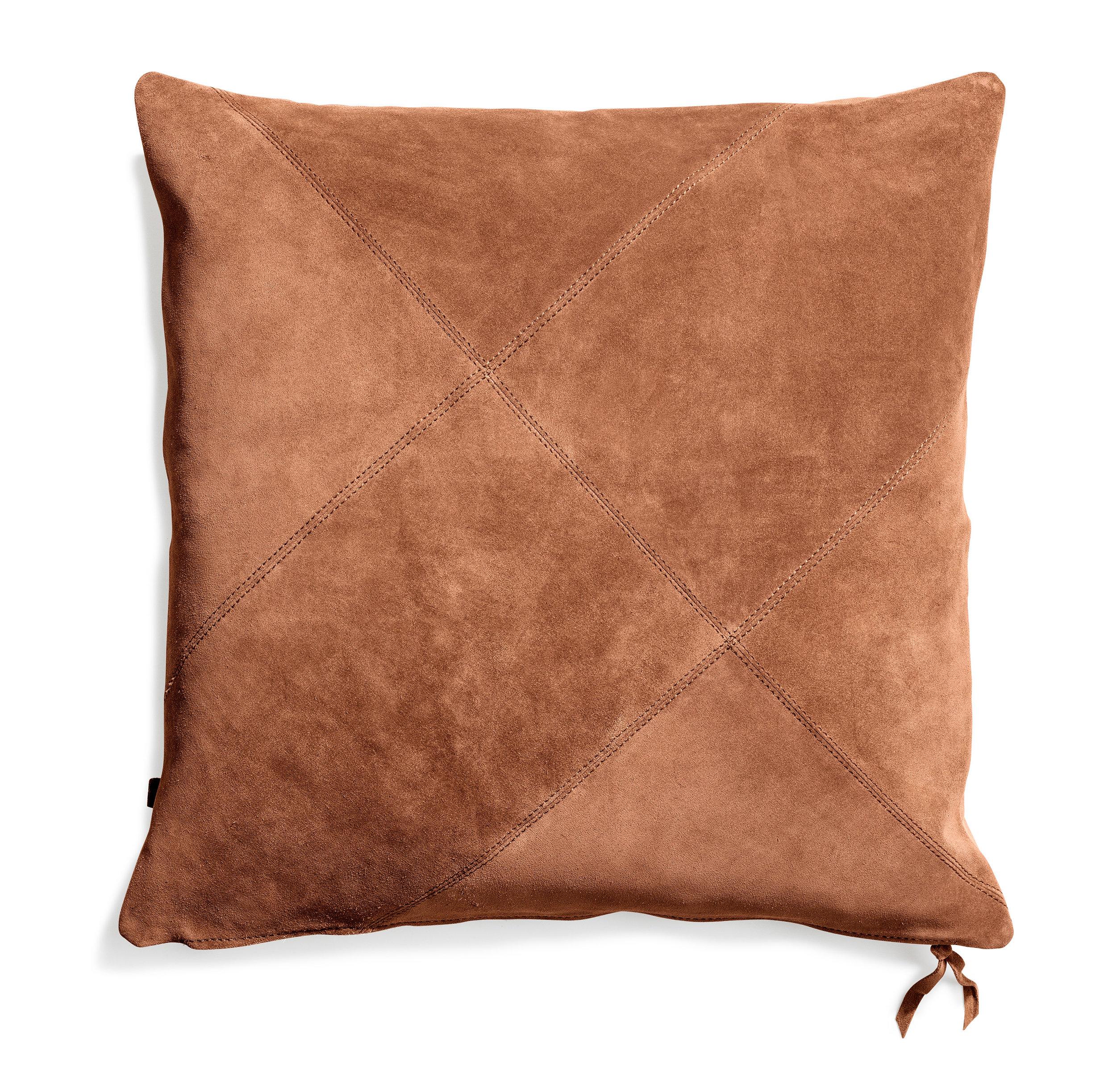 Rafety cushion Terracotta suede 50x50  Wrigley cushion Terracotta suede 60x60
