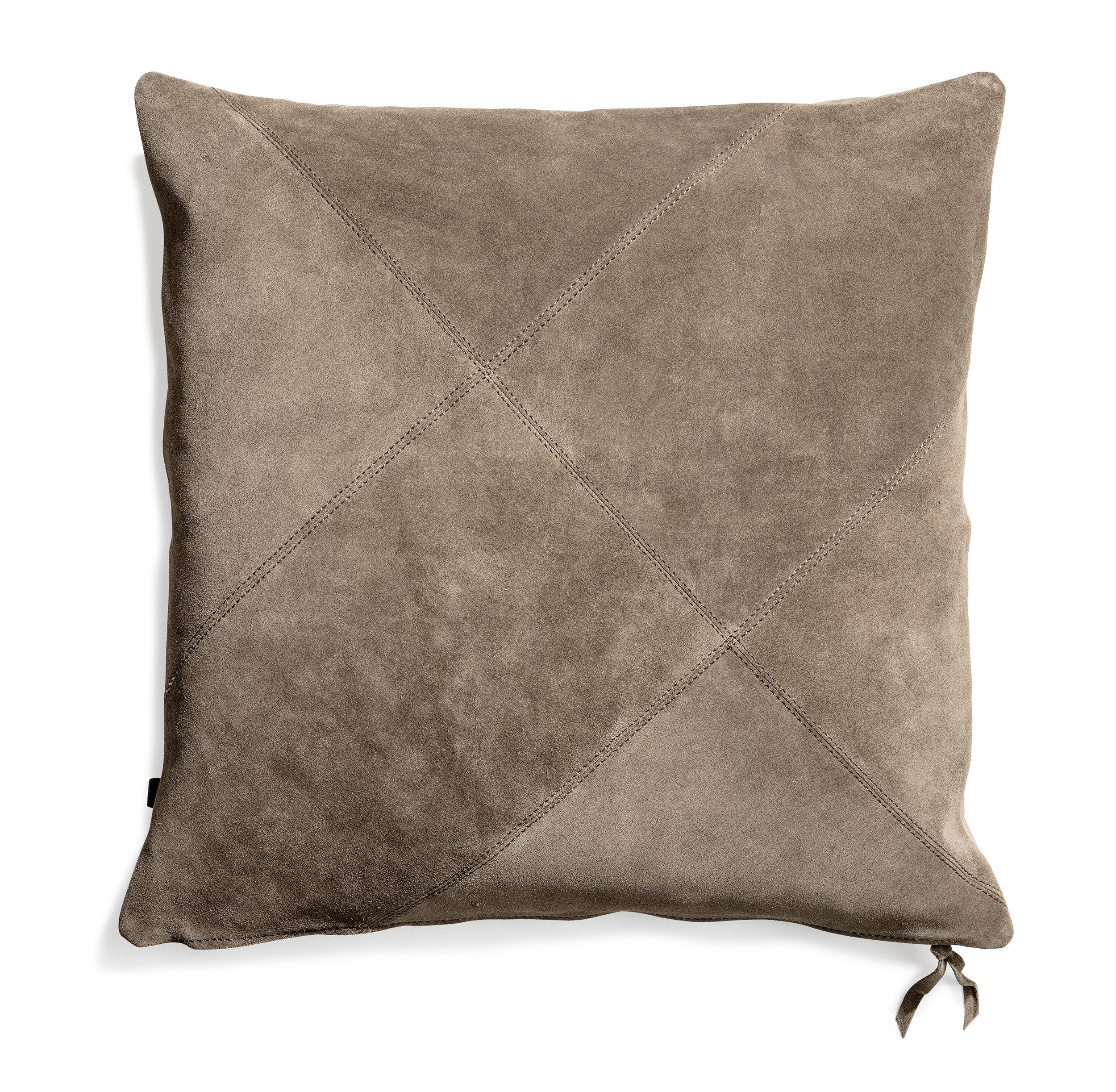 Rafety cushion Stone suede 50x50  Wrigley cushion Stone suede 60x60  Banf cushion Stone 70x70
