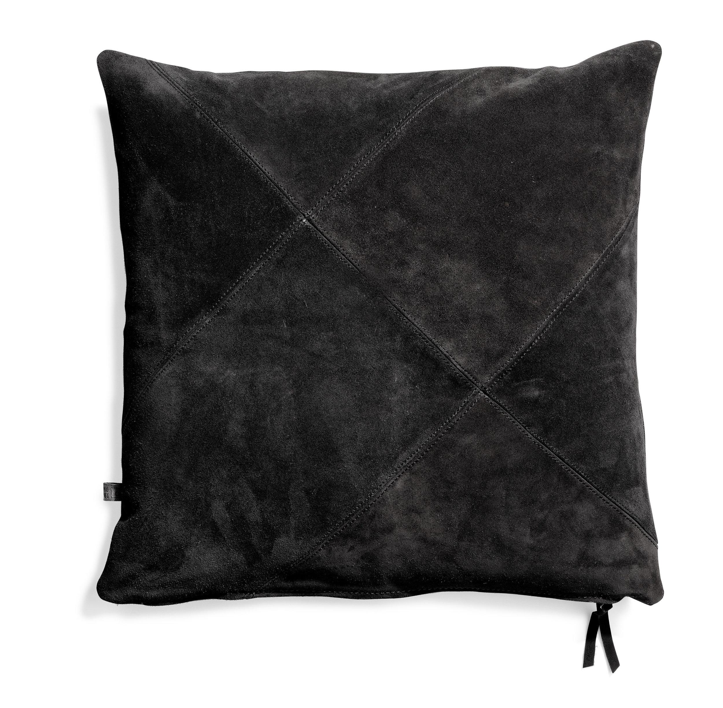 Rafety cushion Black suede 50x50  Wrigley cushion Black suede 60x60  Banf cushion Black 70x70