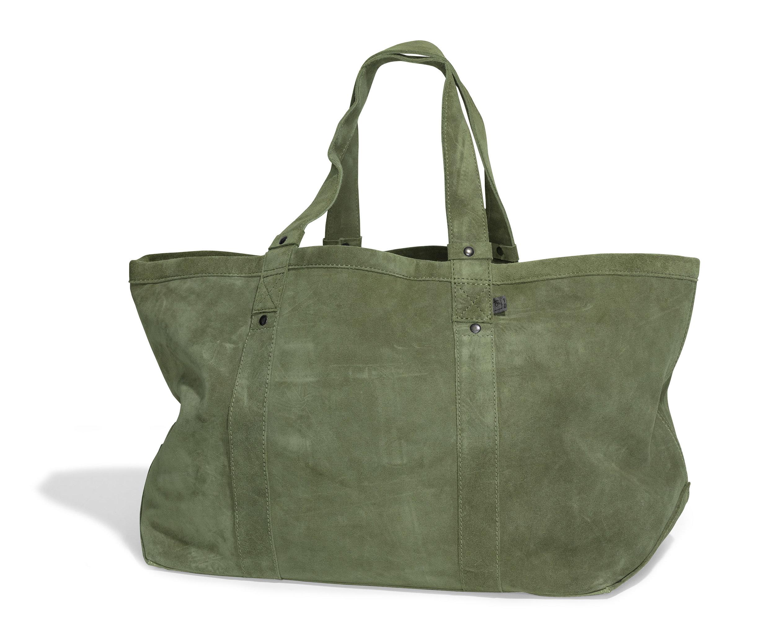 Foyers bag Foggy green suede