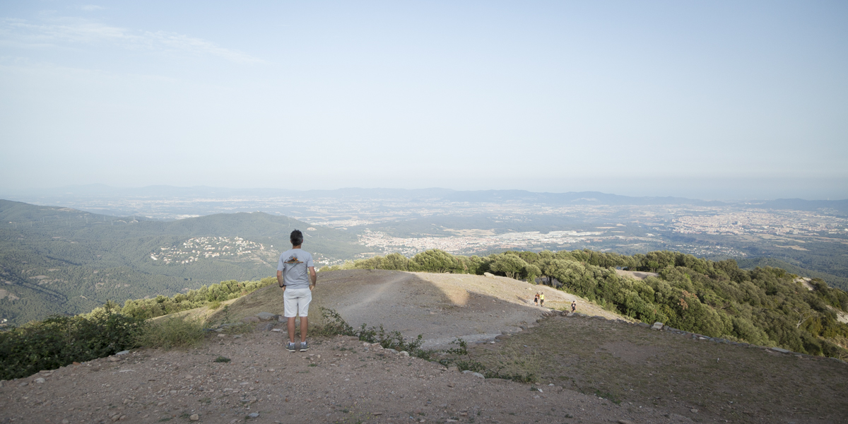The view looking down from the Monastery on La Mola over Terrassa to Barcelona