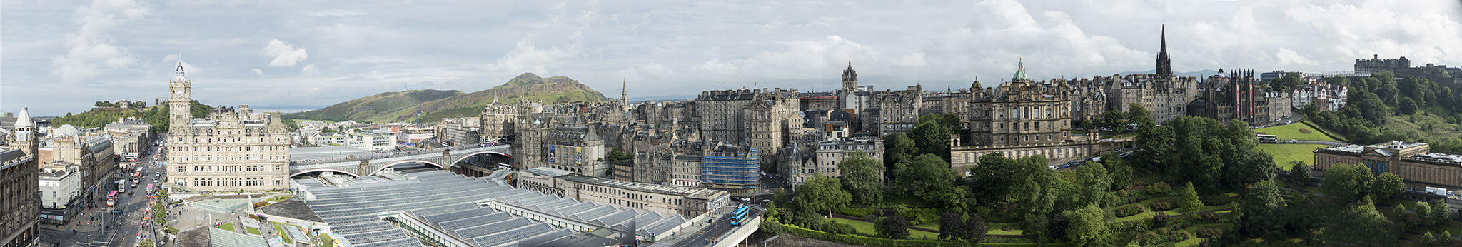 The view from the Scott Monument