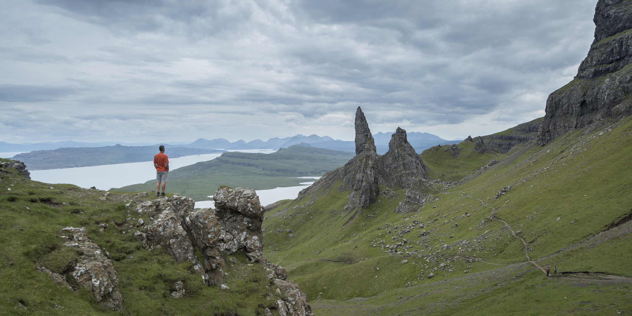 Looking out over the Old Man of Storr