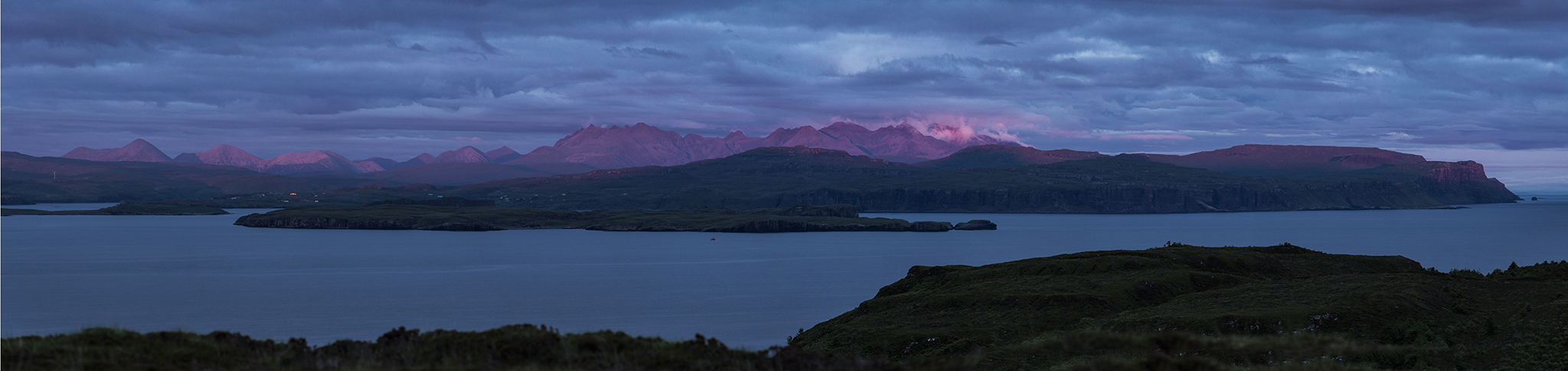 Looking back on Skye at sunset
