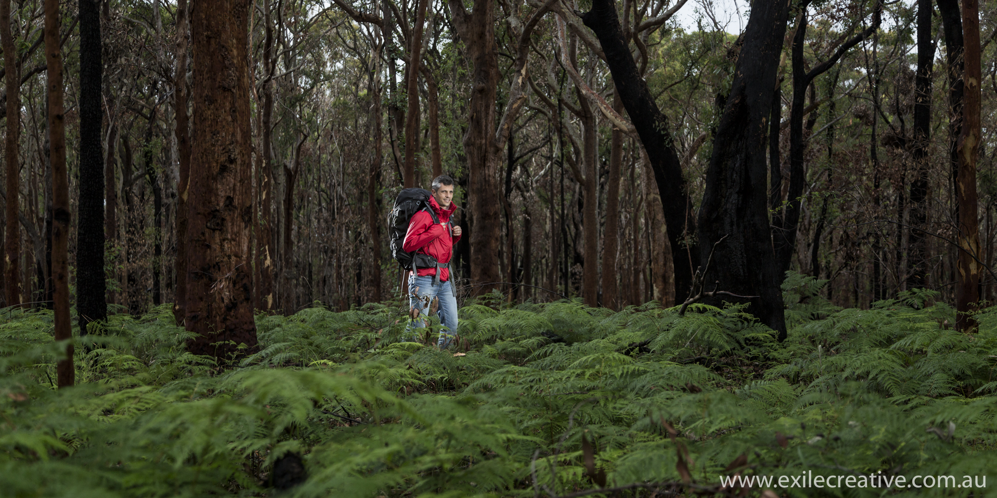 Hiking through Glenrock Reserve