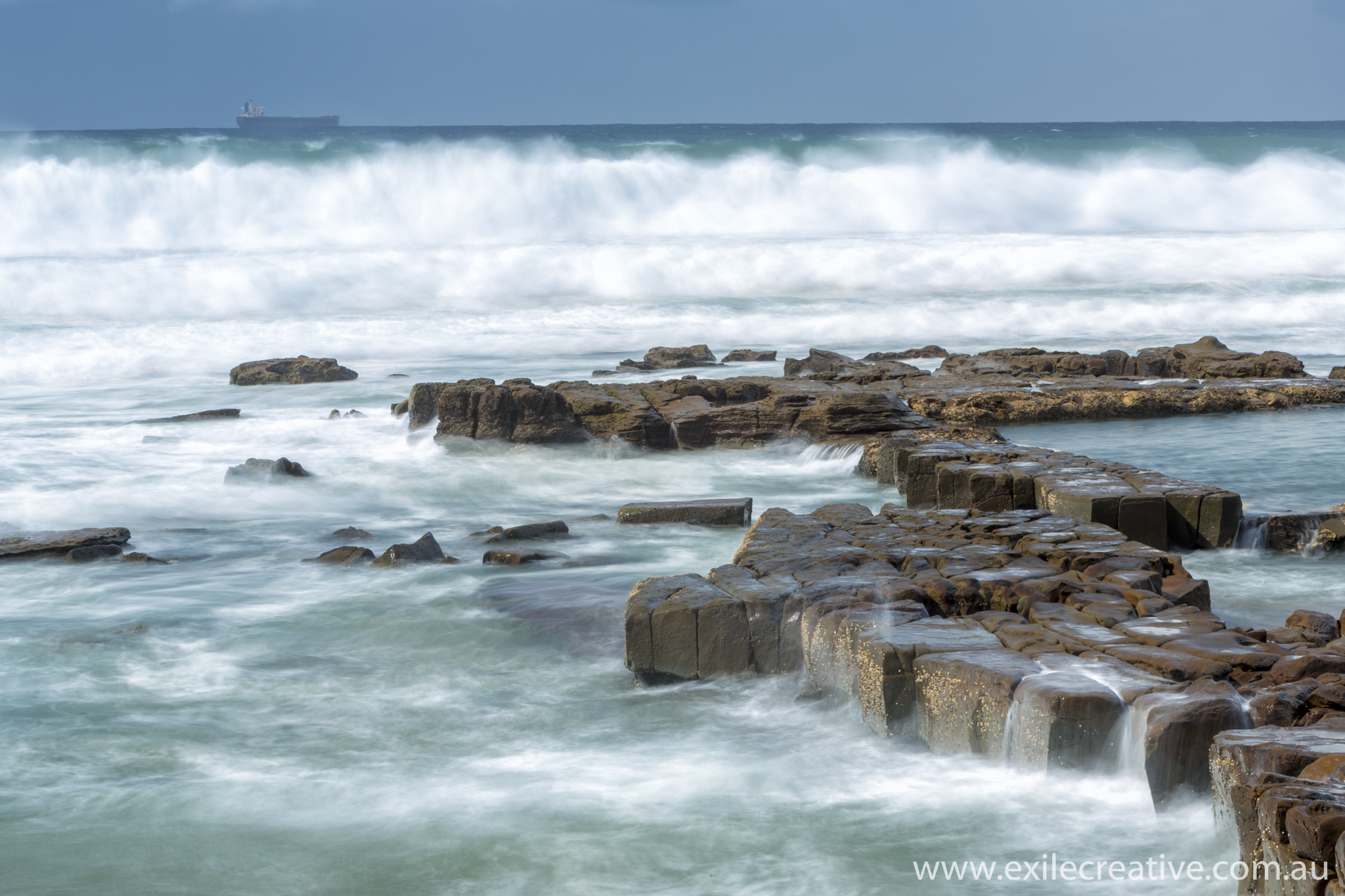 The rocks at Merewether Beach