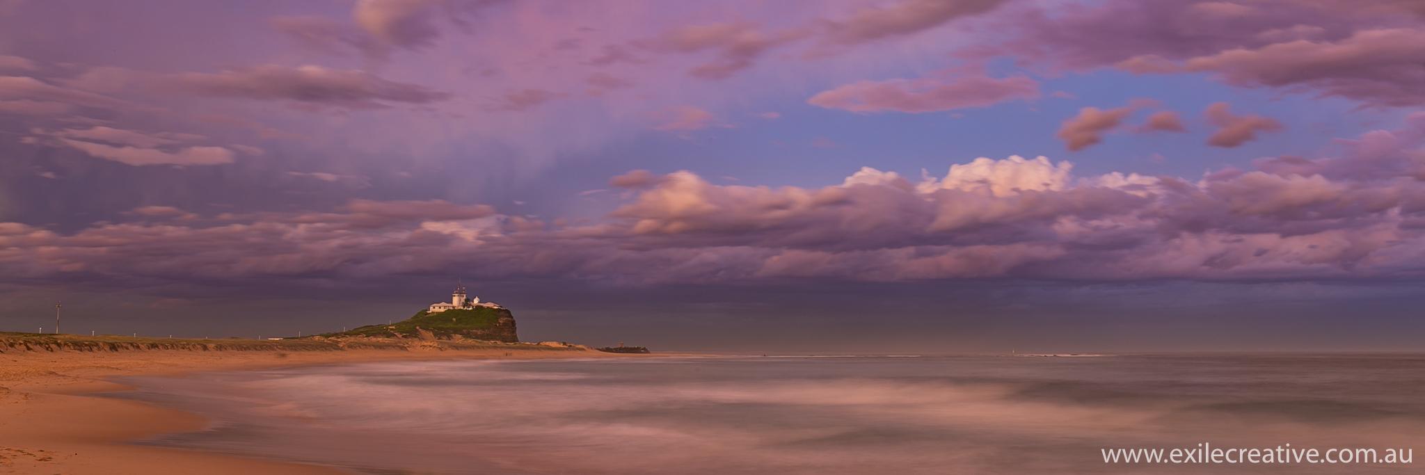 Sunset over Nobby's beach, Newcastle, NSW