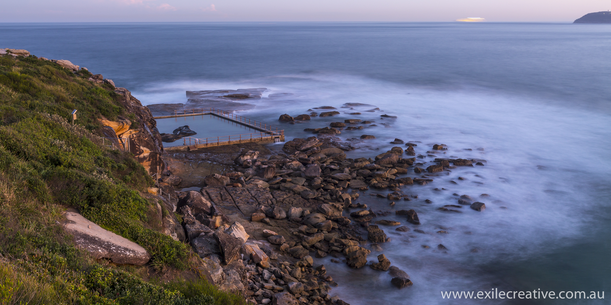 The rock pool at North Curl Curl