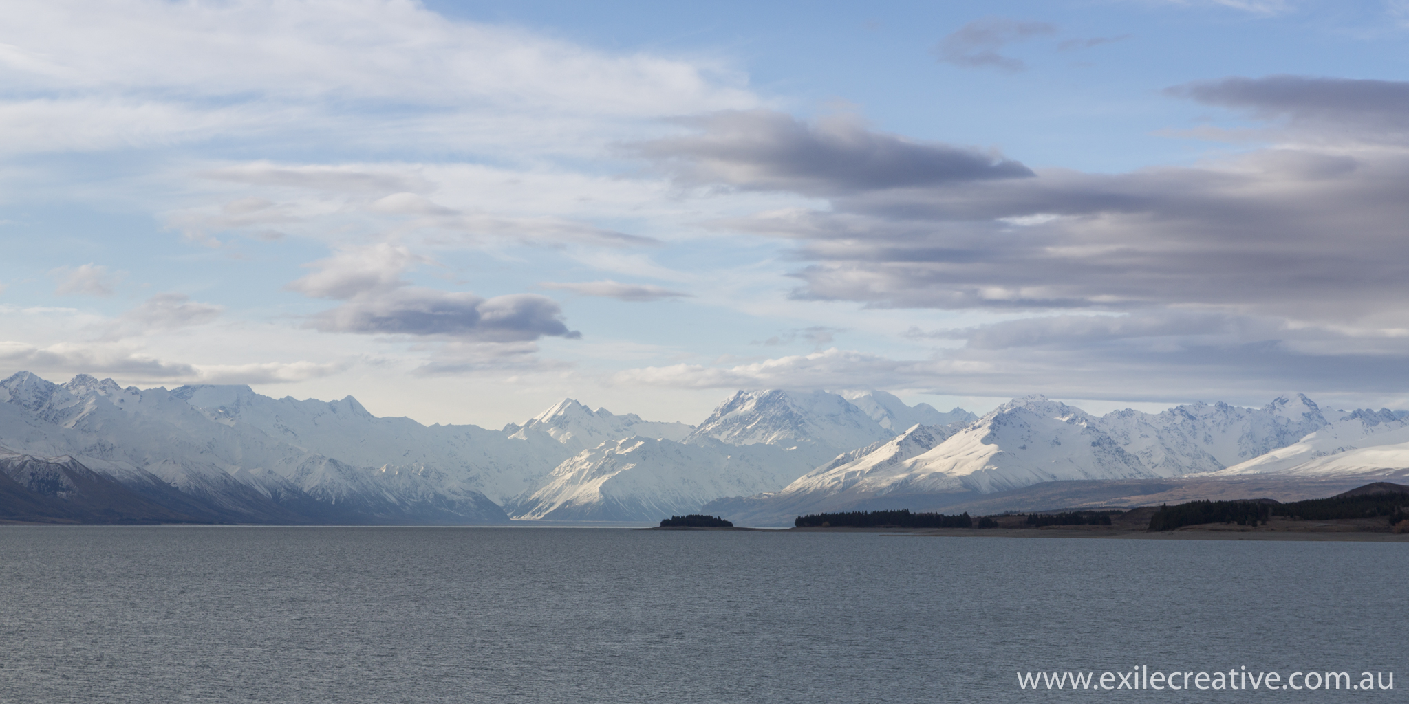 Lake Pukaki from the South.  Somewhere in the distance is Mount Cook.  Excited!  Canon 5Dmiii, 24-105L  @ 85mm, ISO320, f/8, 1/400s