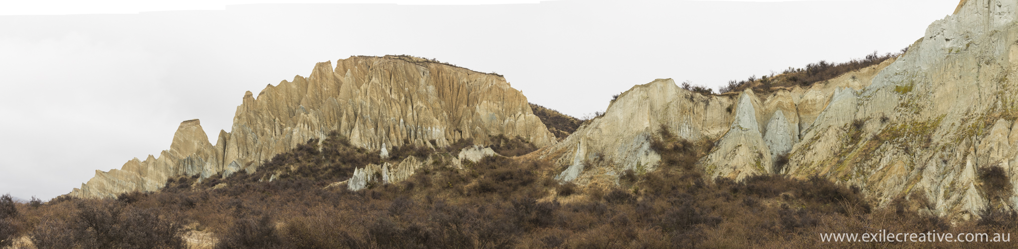 The Clay Cliffs  Canon 5Dmiii, 24-105L IS @ 100mm, ISO400, f/8, 1/320s  Stitched Pano