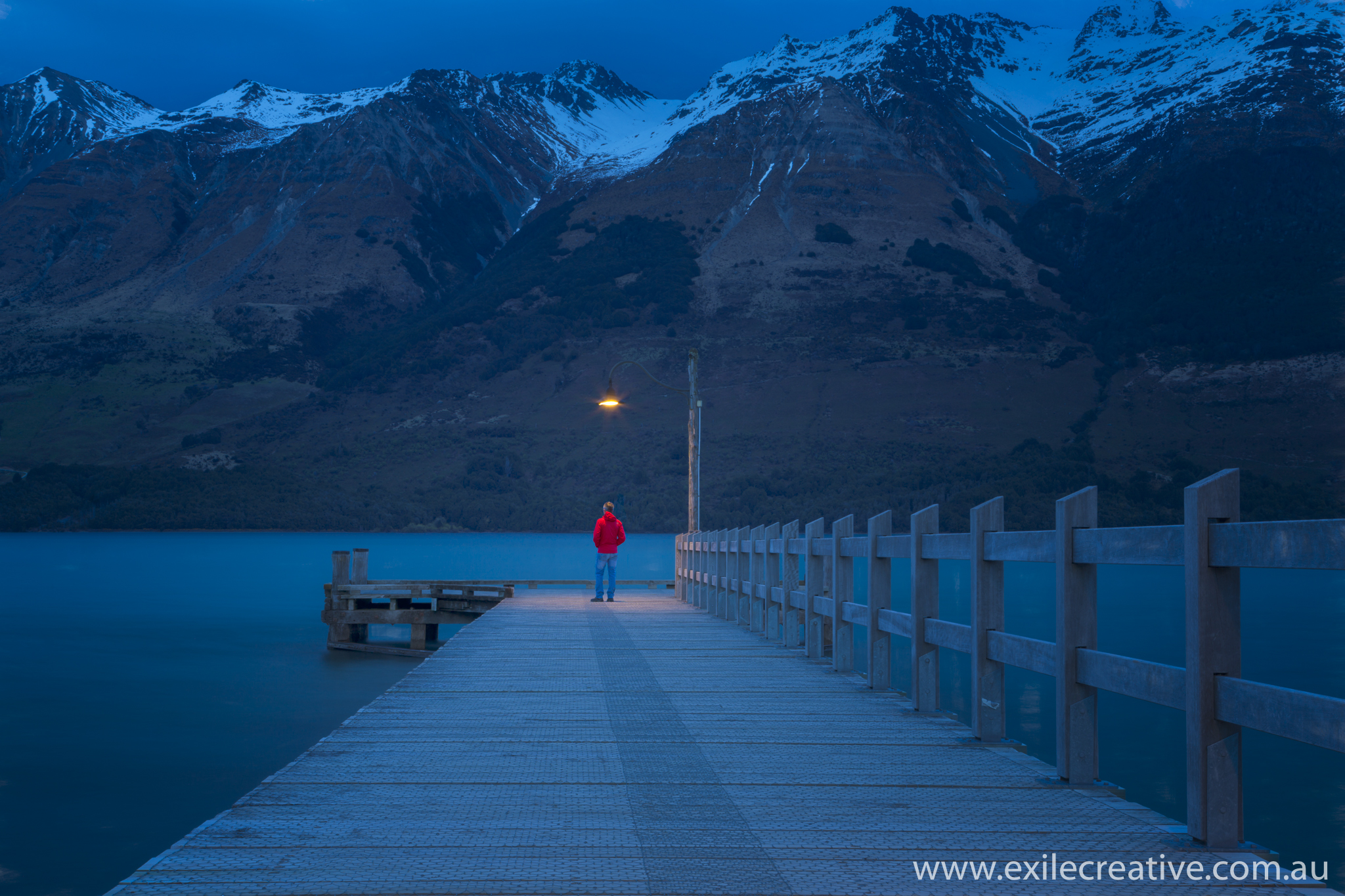 Glenorchy wharf at sunrise.  Canon 5Dmiii, 16-35L iii @ 16mm, ISO50, f/18, 30s, B+W CPL