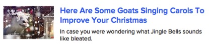 Buzzfeed demonstating their mastery of the art of attention-grabbing online   (c. December 2015)