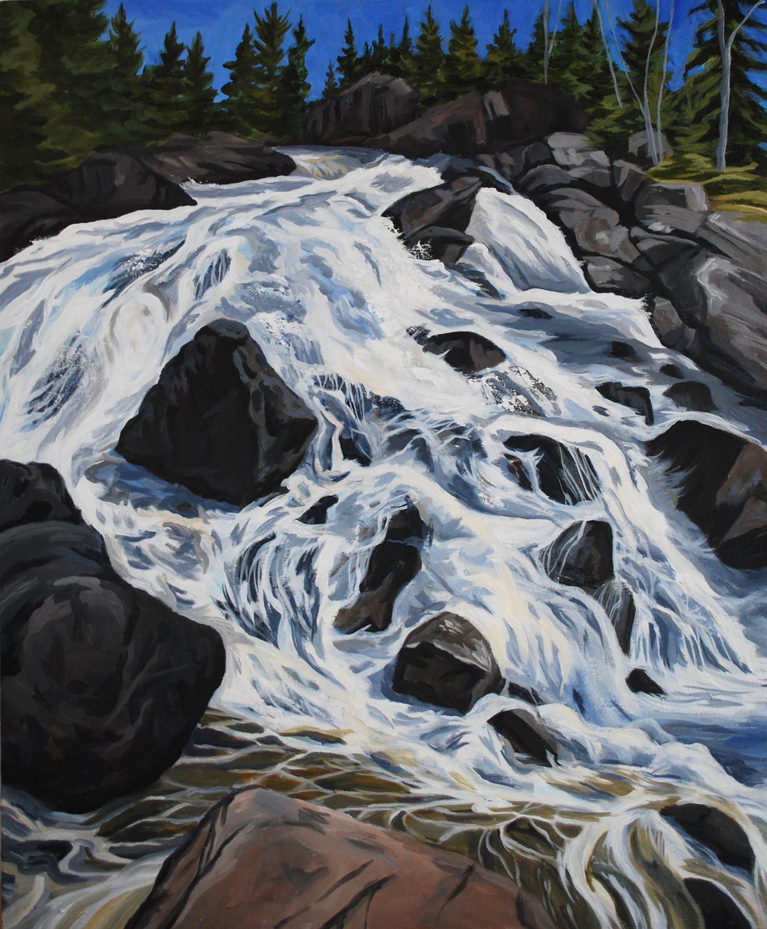 Quetico Falls  Acrylic on Canvas