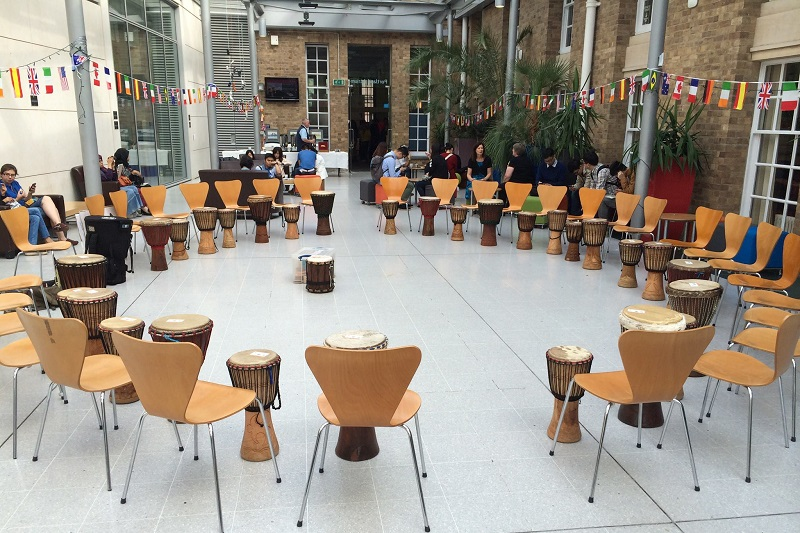 Evening drumming classes in Sheffield.