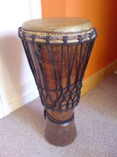Bugarabu drum used in drumming workshops.