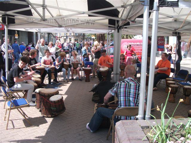 Community Drum Circle in Barnsley