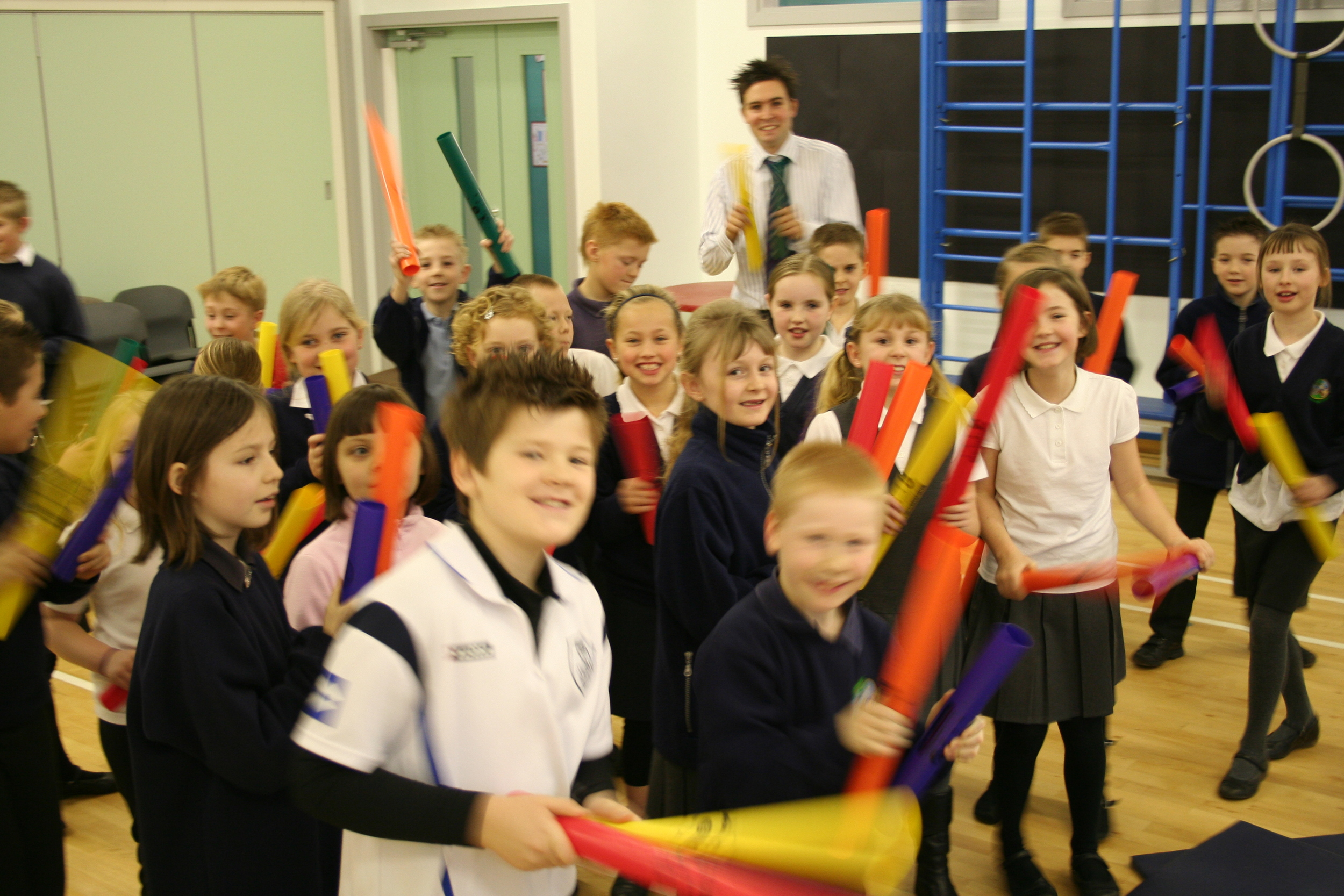 Creating the sound of West Africa through Boomwhackers