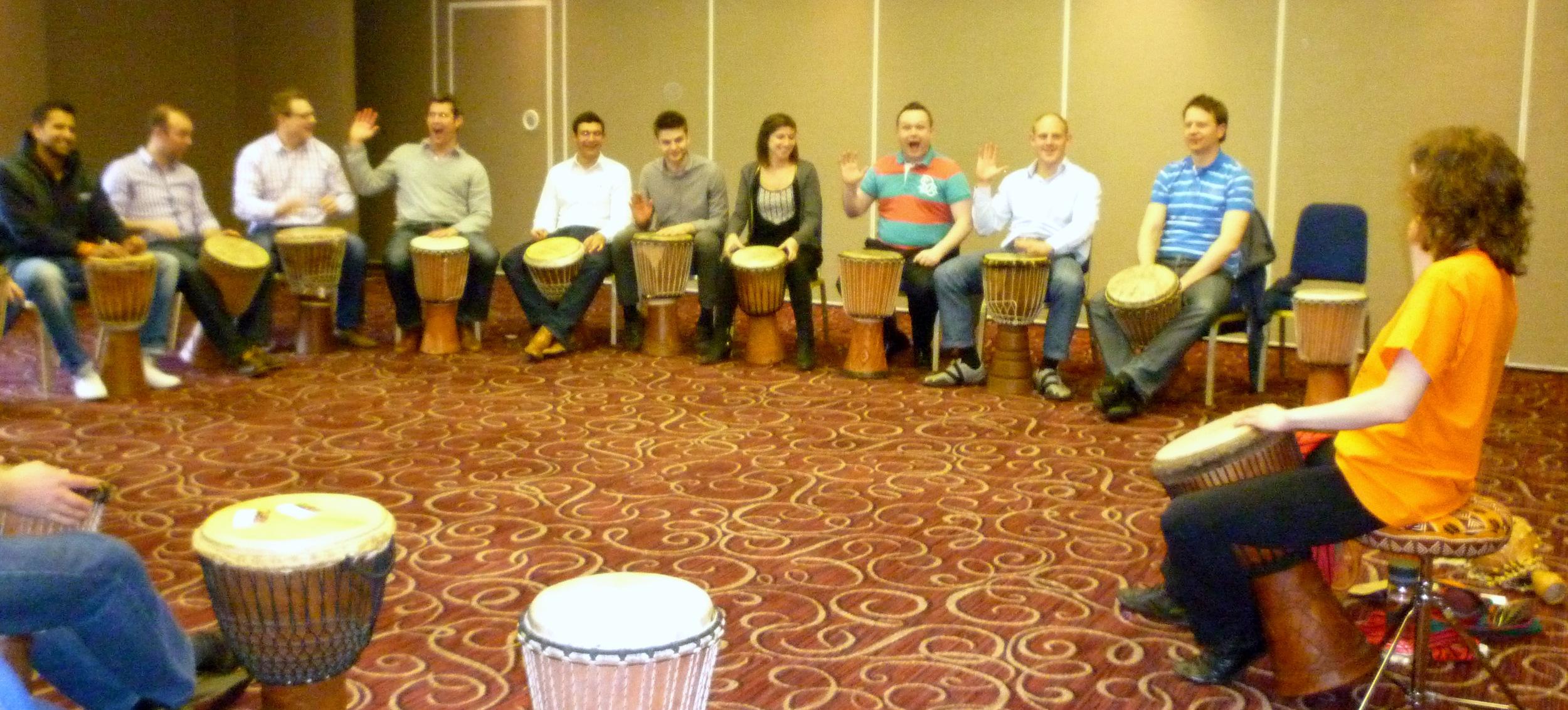 Corporate drumming events in Buckinghamshire