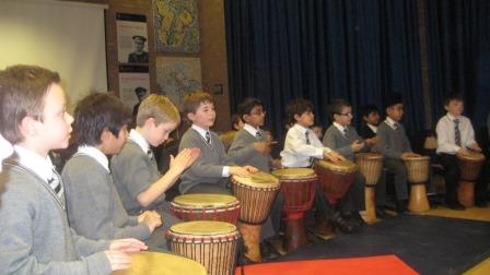 African Drumming at Nottingham High School -