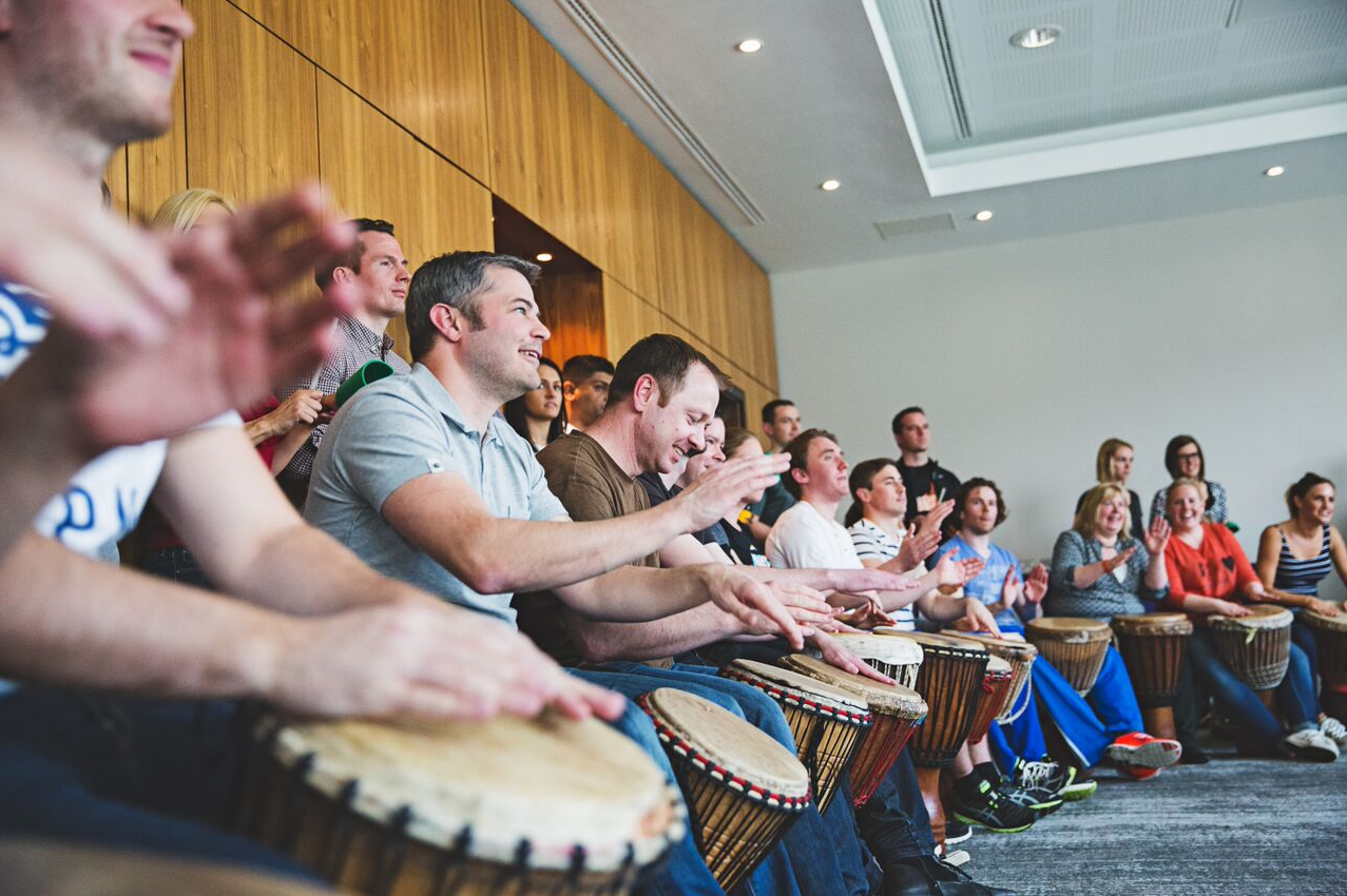 Why have a drumming team building event at your conference?