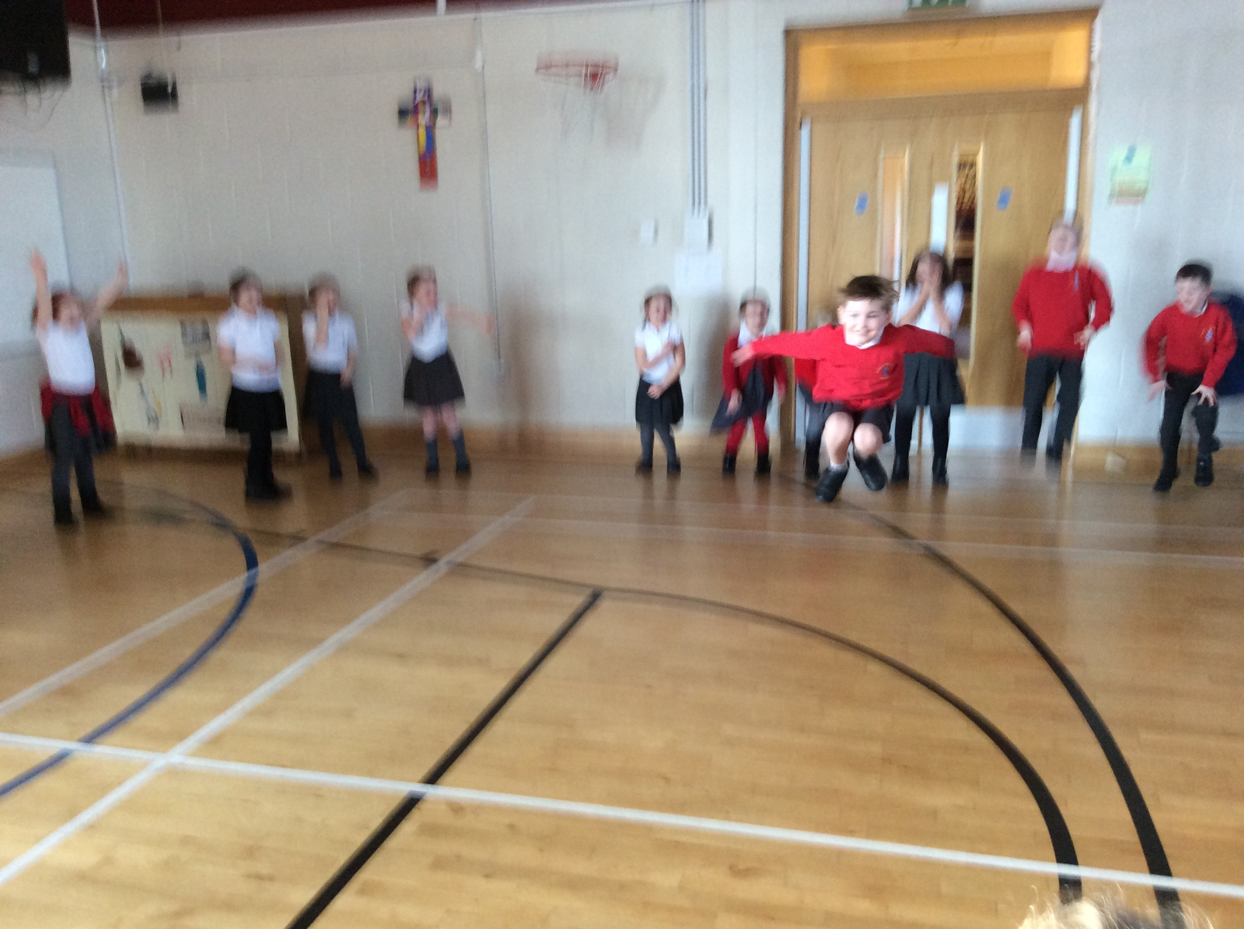 African Dance with Y2 pupils at St. Mary's High Green Sheffield