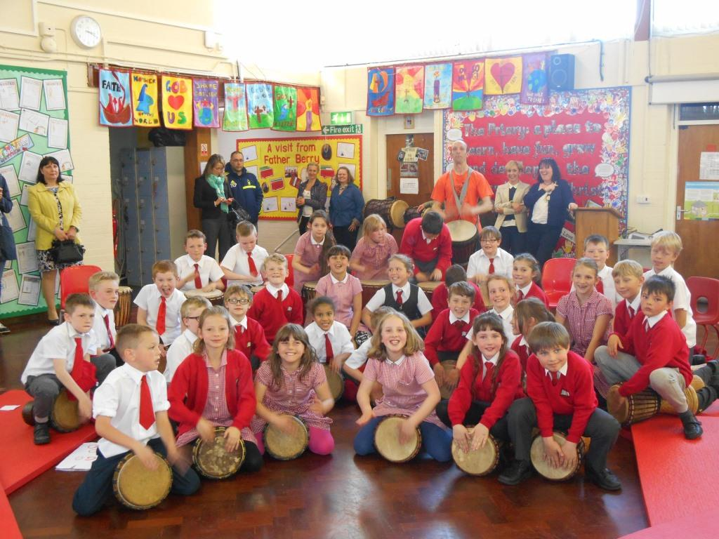 African Drumming improves children's listening skills