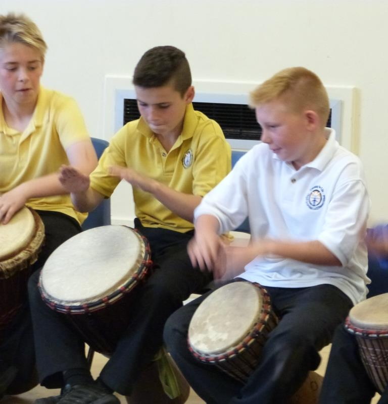 African drumming becomes a superb example of team work, embracing all members of the team and allowing everyone to succeed.
