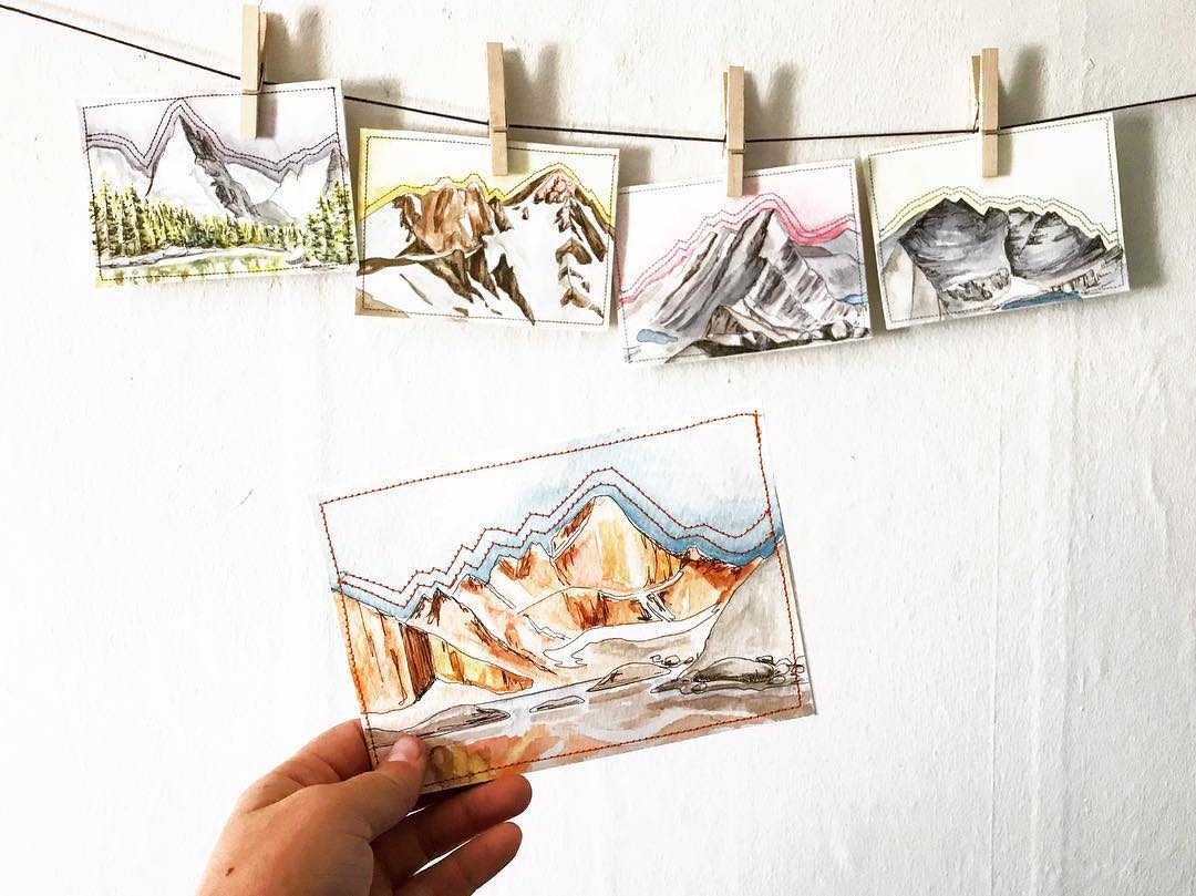 This set of postcards was auctioned off at a Colorado Mountain Club event.