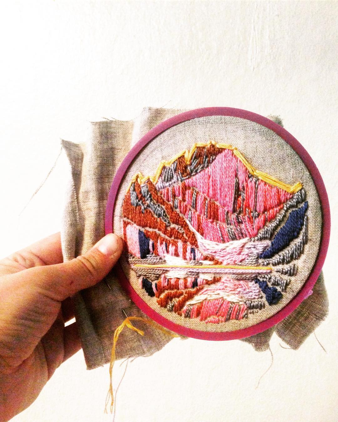 This small Grand Teton hoop has been finished and lives in the shop right now!