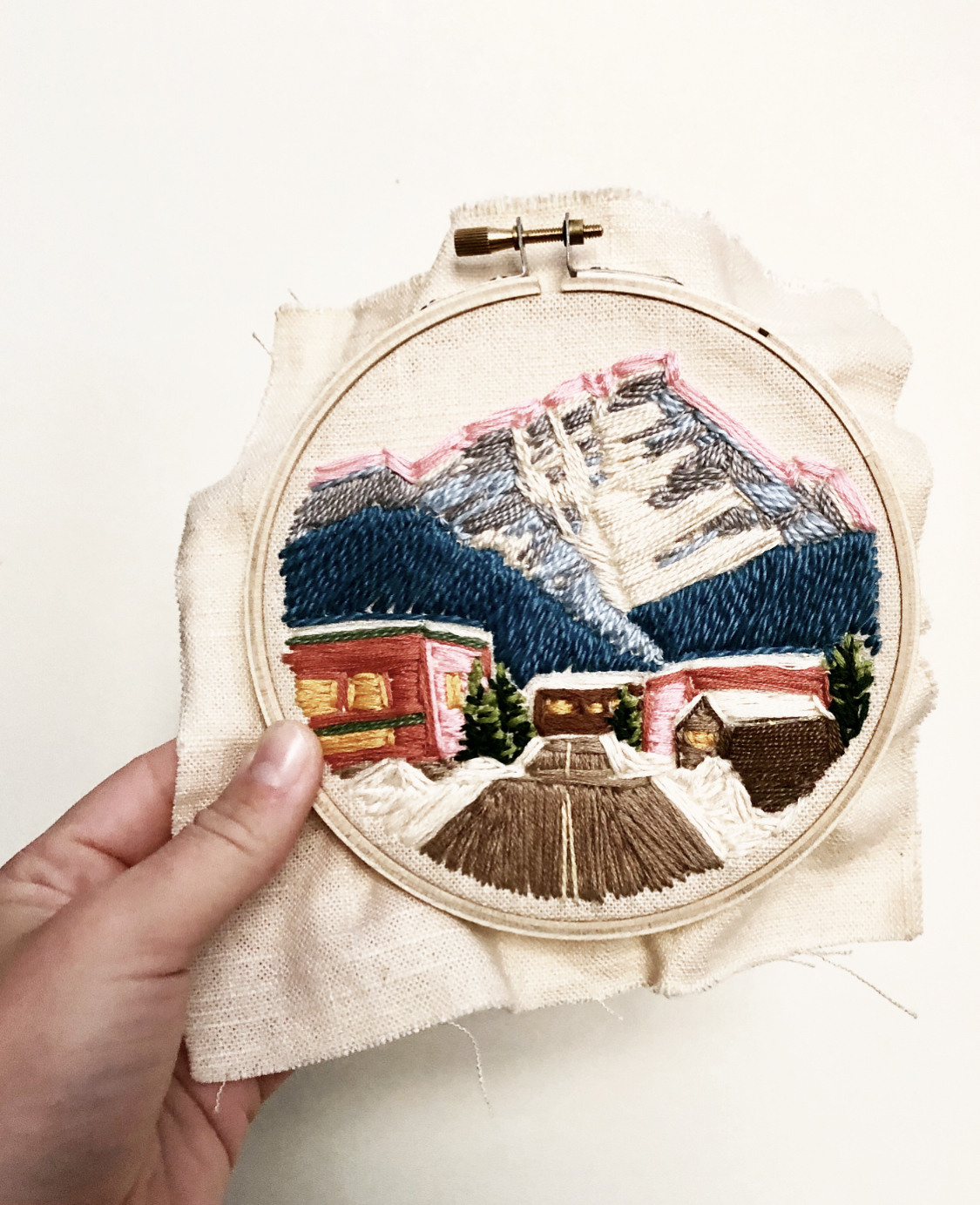 An example of past work: a Banff, Canada hoop.