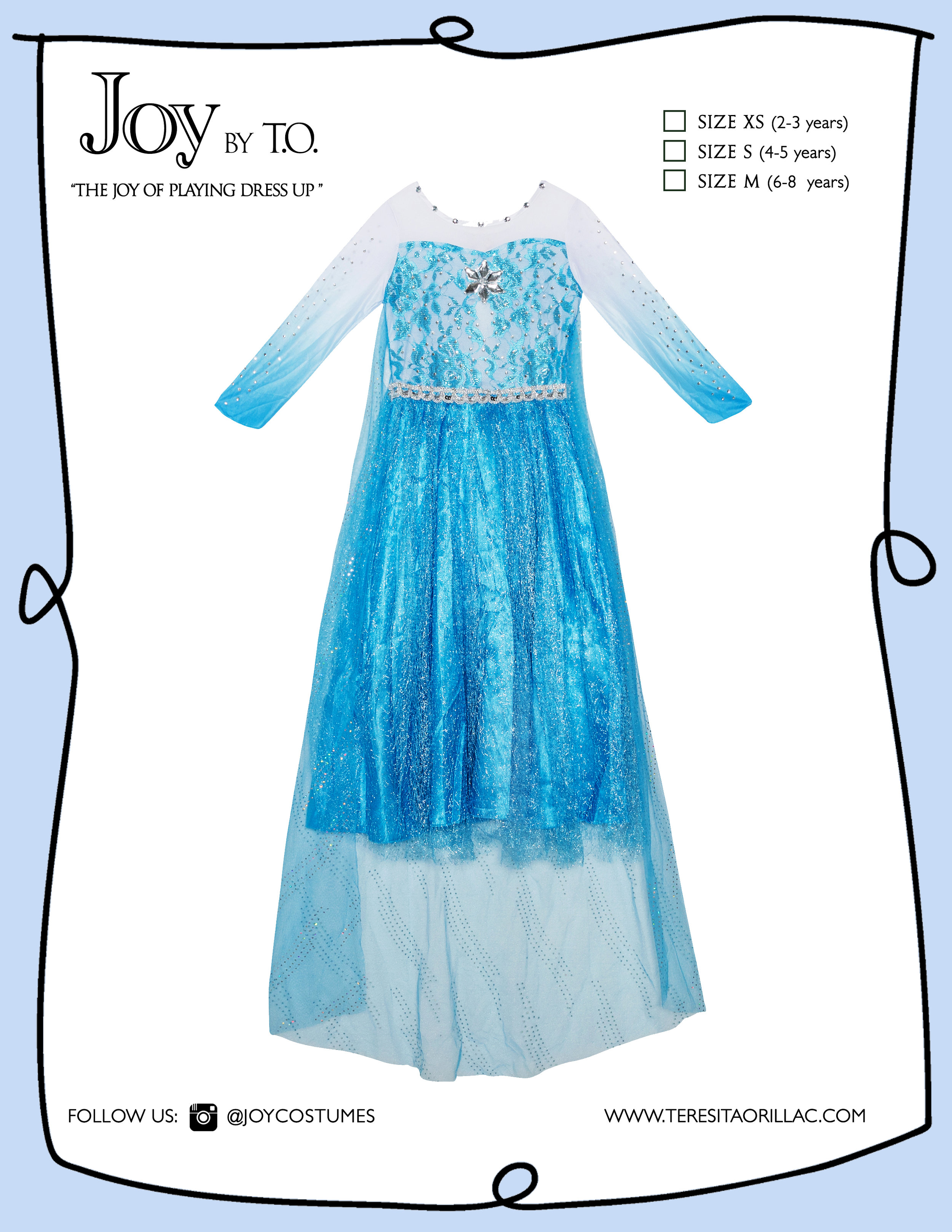 Carton disfraz Frozen Elsa blue.jpg